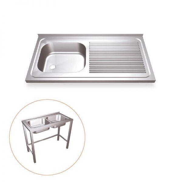 Industrial Kitchen Sink With Frame Work Left Sink Simex