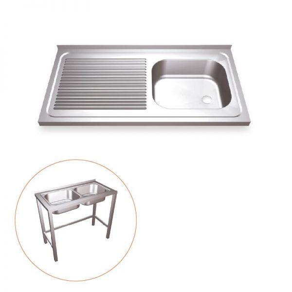 Industrial Kitchen Sink With Frame Work Right Sink Simex