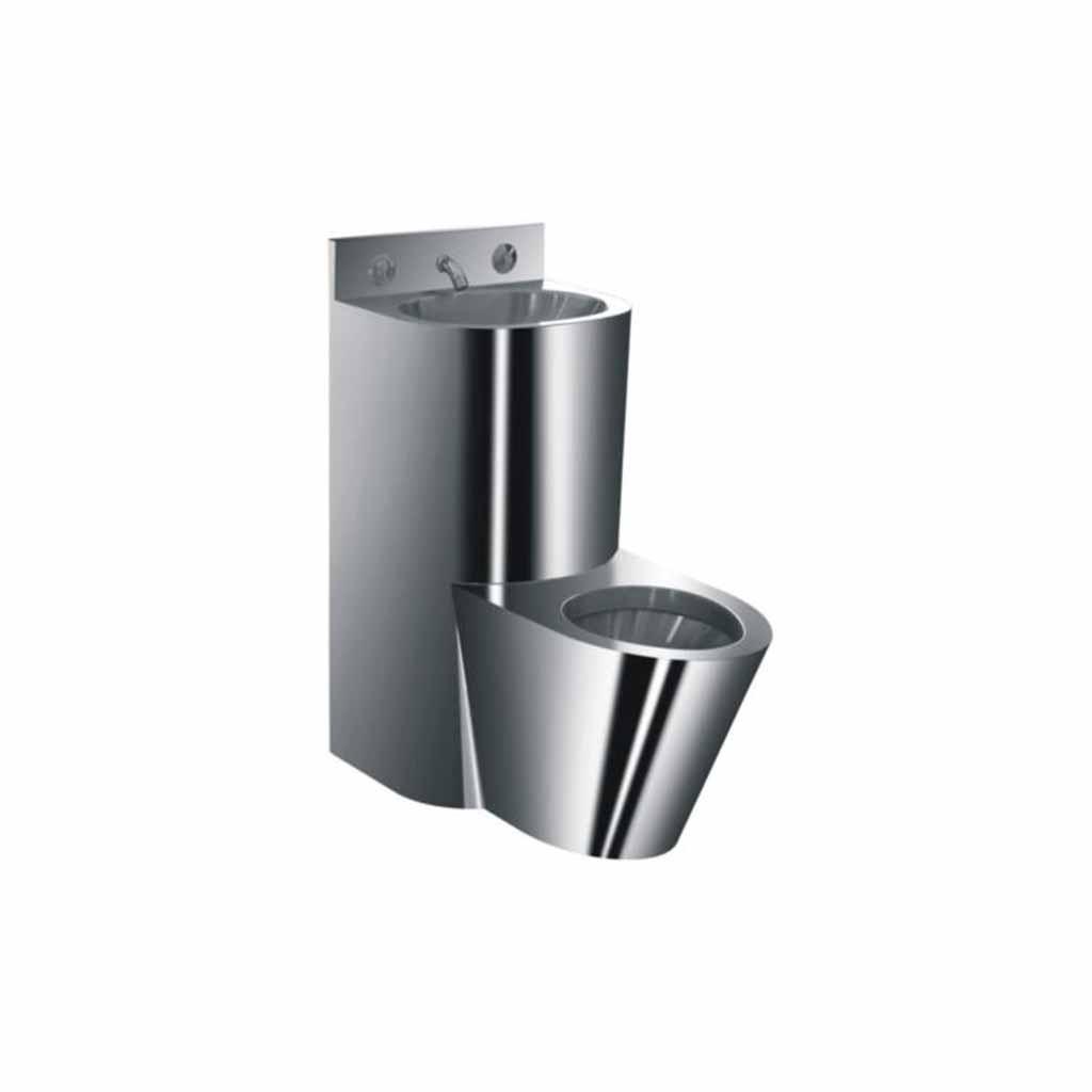 Conjunto de lavabo e inodoro