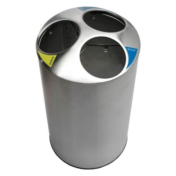 Papelera de reciclaje con cubetas separadoras